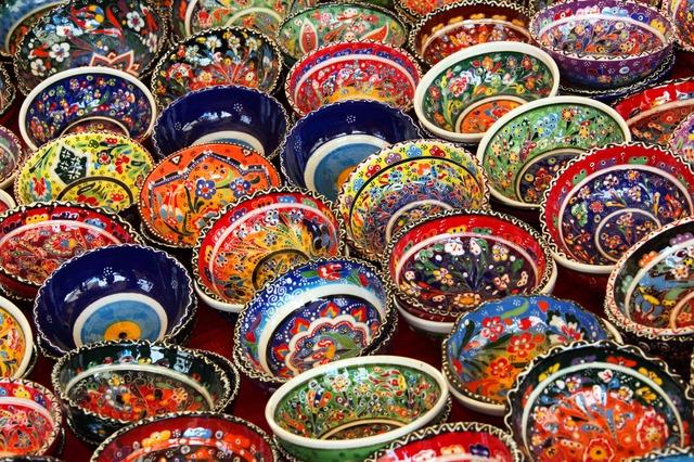 ceramics at an art show
