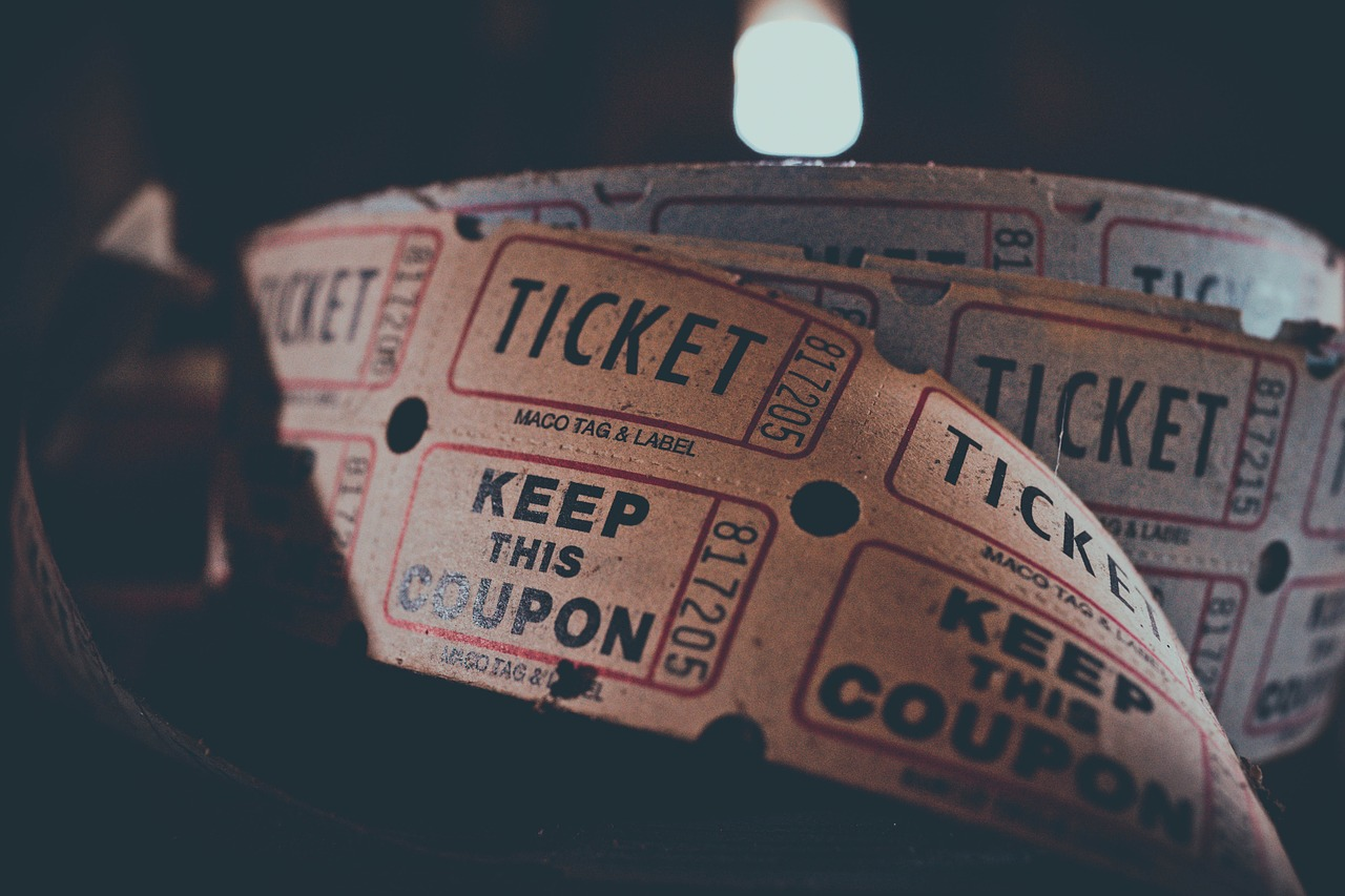 Roll of movie tickets.