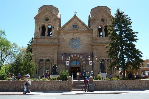 Ancient cathedral in Santa Fe.