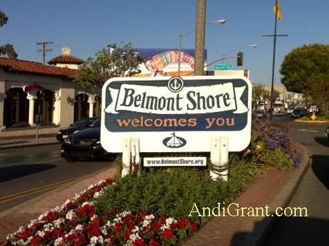 Belmont Shore Long Beach Welcome sign