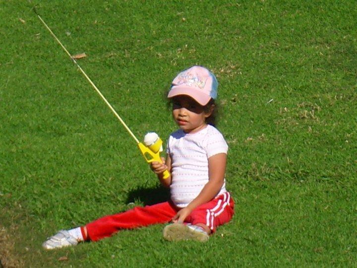 Downey - Little girl fishing at Wilderness Park