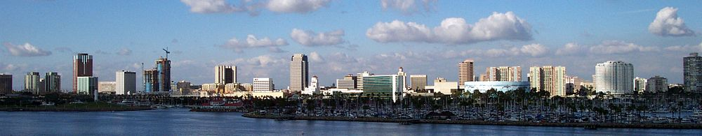 Downtown Long Beach skyline from Queen Mary