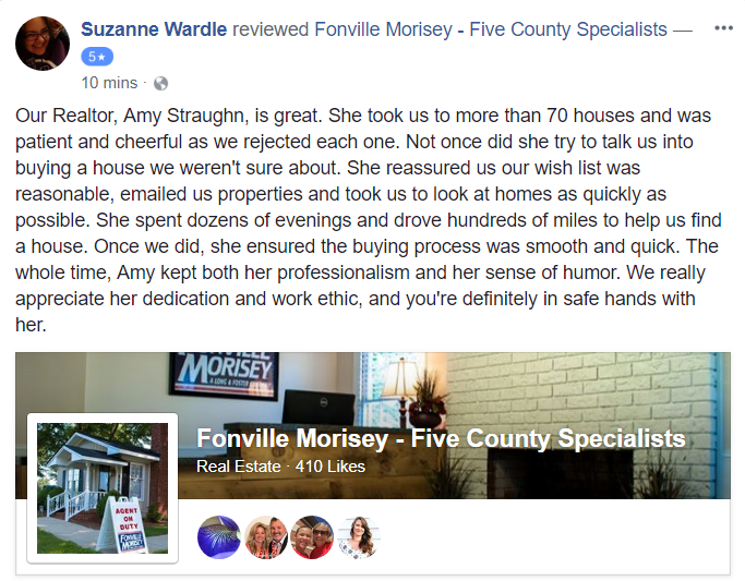 Five County Specialists 5 Star Facebook Review