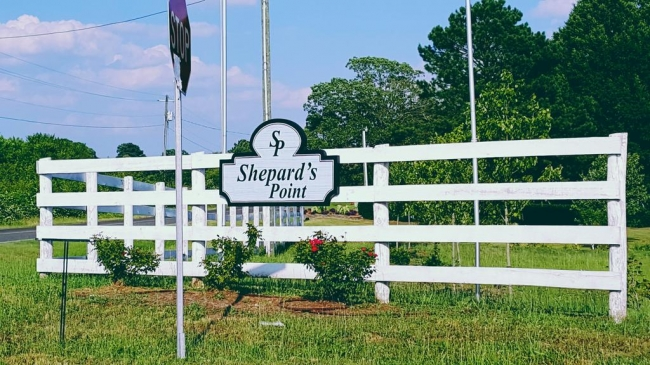 Shepard's Point Entrance Sign