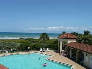 Matanzas Shores Community Pool and Club House over looking the Atlantic Ocean