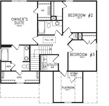 Player Floor Plan Second Floor