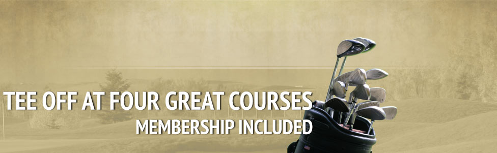 Tee off at four great courses, membership included