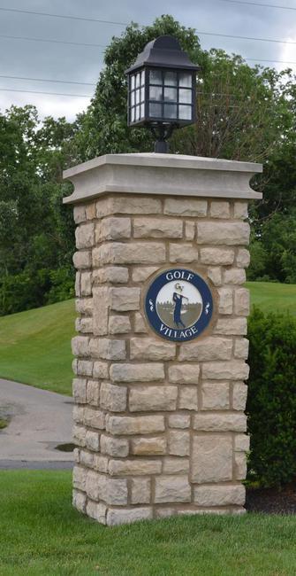 Golf Village entrance sign