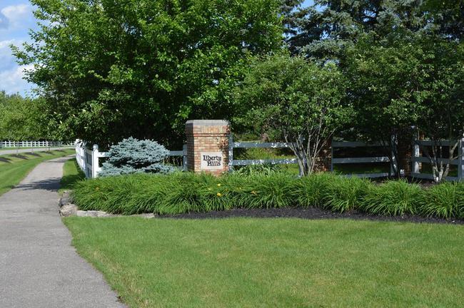 Liberty Hills entrance sign
