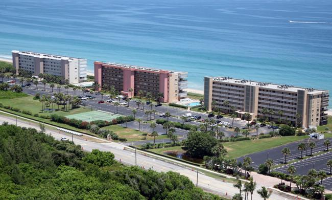 Aerial View of Atlantis Condos on Hutchinson Island in Jensen Beach