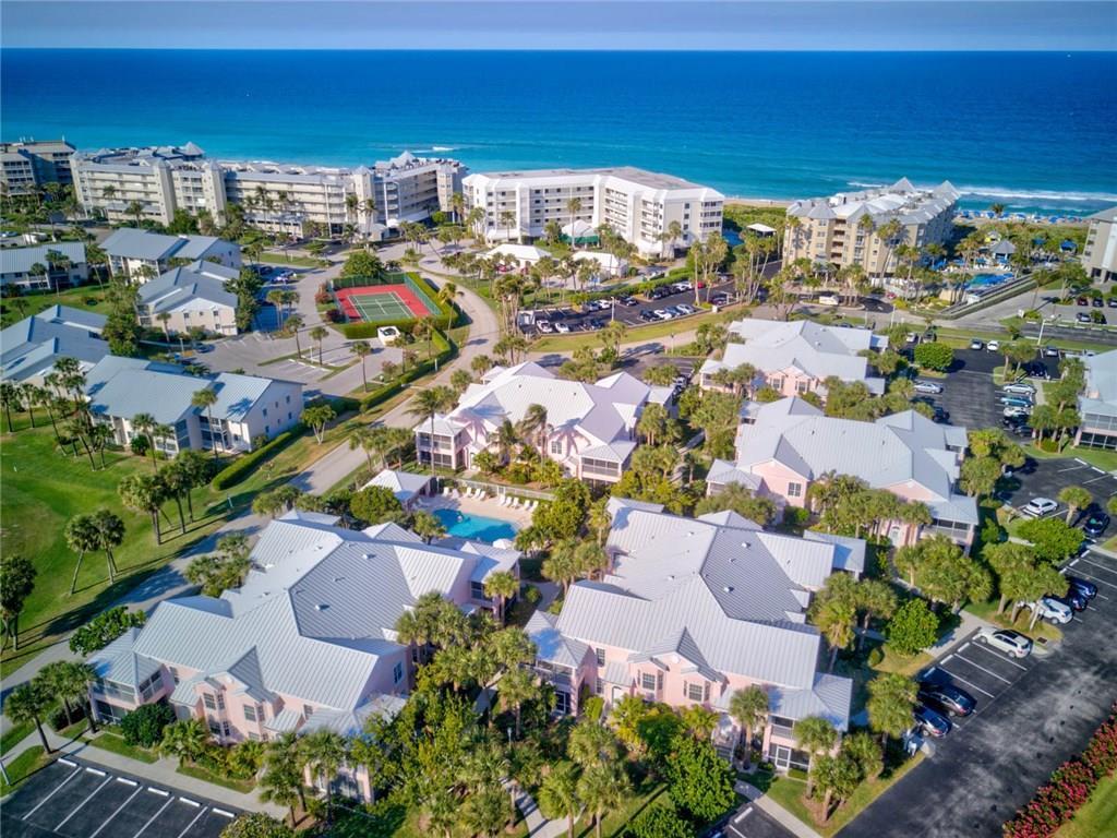 Aerial View of Beachwalk Condos in Indian River Plantation on HUtchinson Island in Stuart FL