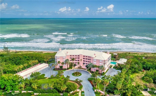 Aerial View of Buttonwood Condos on Hutchinson Island in Stuart FL