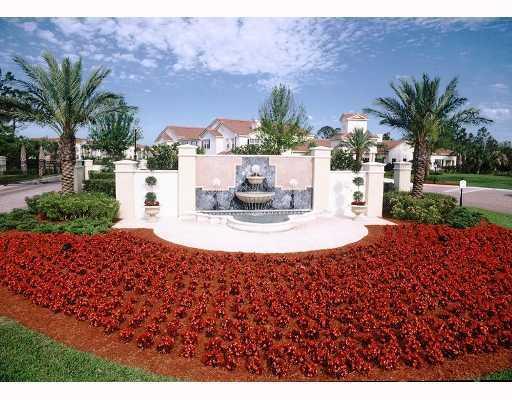 The fountain in the Estates of Stuart condos