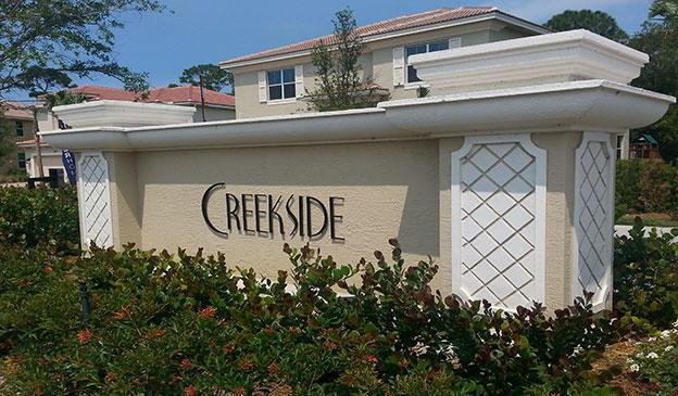 Entrance to Creekside in Palm City FL