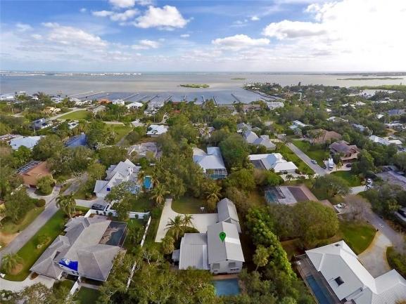 Aerial views of Arbela in Sewalls Point in Stuart FL