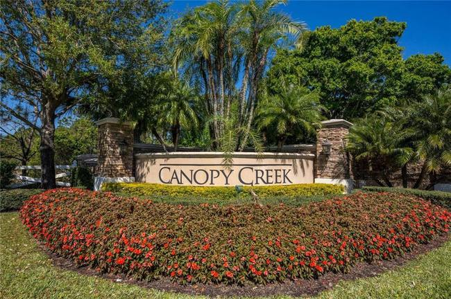 Entrance to Canopy Creek in Palm City Florida