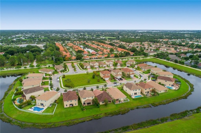 Aerial view of Murano, Palm City FL