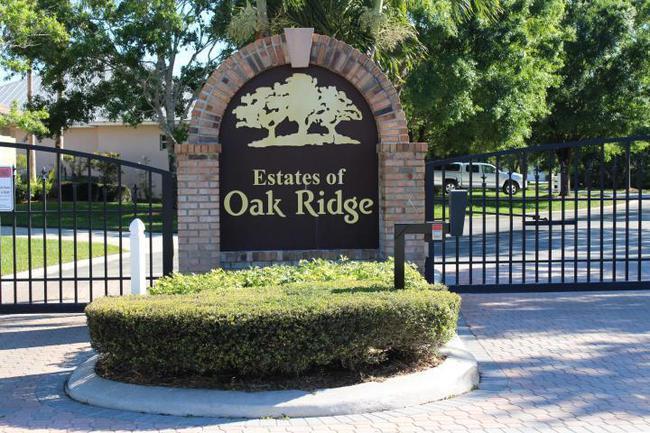Oak Ridge back gate in Palm City, Florida