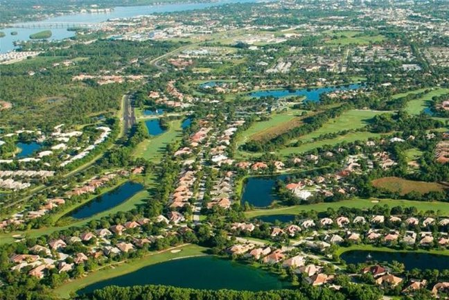 Aerial View of Willoughby Country Club in Stuart FL