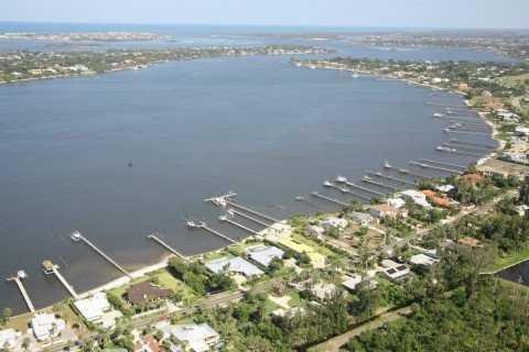 Aerial View of Bay St. Lucie in Stuart FL