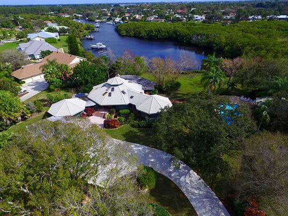 Hidden Bay real estate in Palm City Fl aerial view