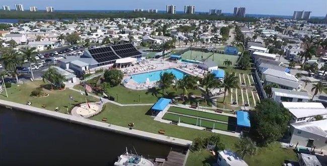 Aerial view of Nettles Island on Hutchinson Island FL