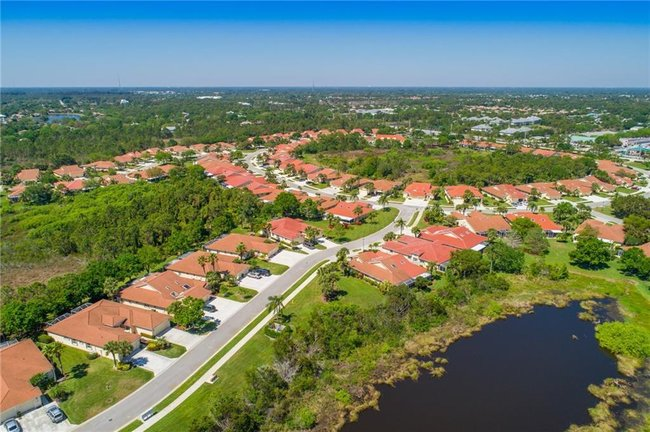 Aerial View of Whispering Sound in Palm City FL
