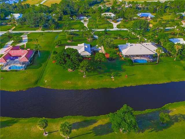 Aerial view of the Evergreen Community in Palm City FL