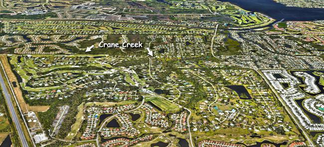 Crane Creek in the Martin Downs Country Club in Palm City Florida
