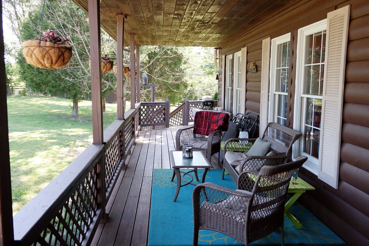 Country porch.