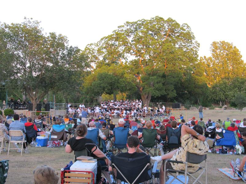 Enjoying the Festival of the Arts Concert in the Park