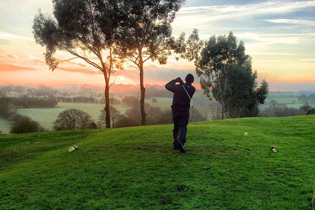 golfing at a course near bridgeville