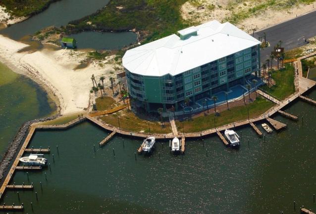 Navy Cove Harbor Gulf Shores AL Condo Community Aerial View