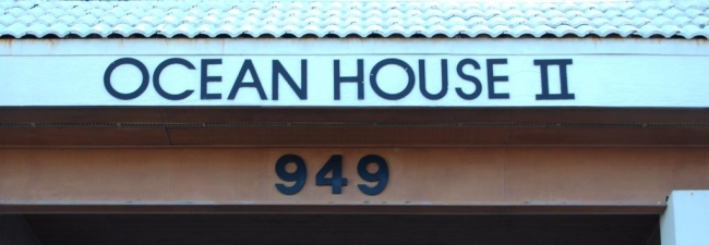 Ocean House 2 Gulf Shores AL Condominium Sign