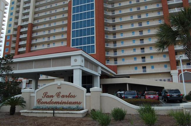 San Carlos Condominiums Sign and Building