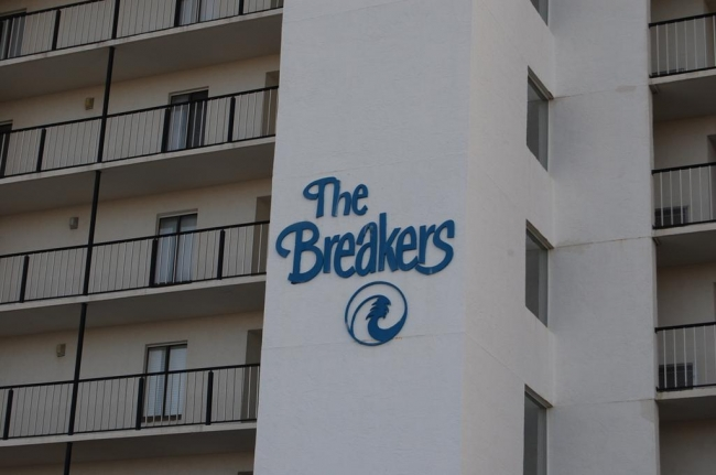 The Breakers Orange Beach AL Condo Sign