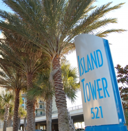 Island Tower Gulf Shores Condominium Sign