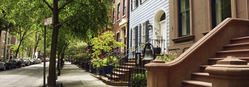 beautiful brownstone homes