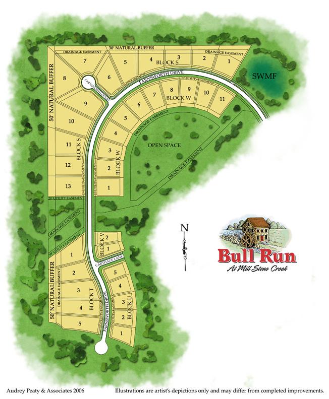 Stone Mill at Bull Run, Unit 3, Tallahassee, FL lots for sale