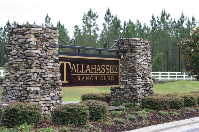 Tallahassee Ranch Club Woodville FL Neighborhood Entrance Sign