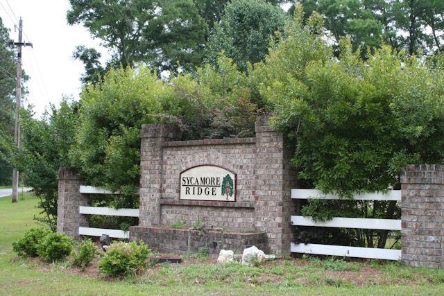 Sycamore Ridge Tallahassee FL Neighborhood Entrance Sign