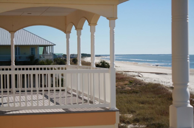 Ocean Front view from a Gulf Coast FL home
