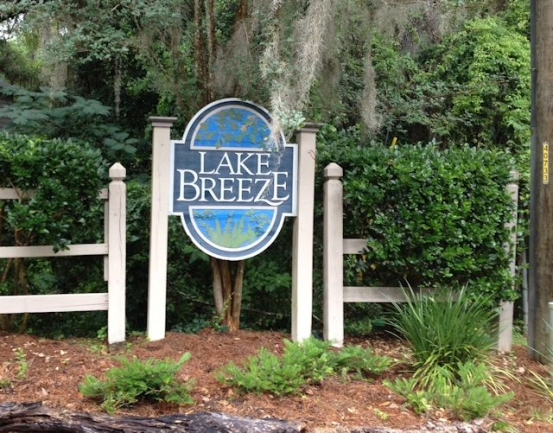 Lake Breeze Tallahassee Neighborhood Sign