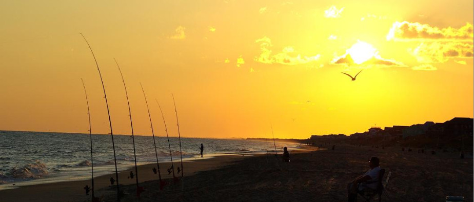 Crystal Coast Beach at Sunset