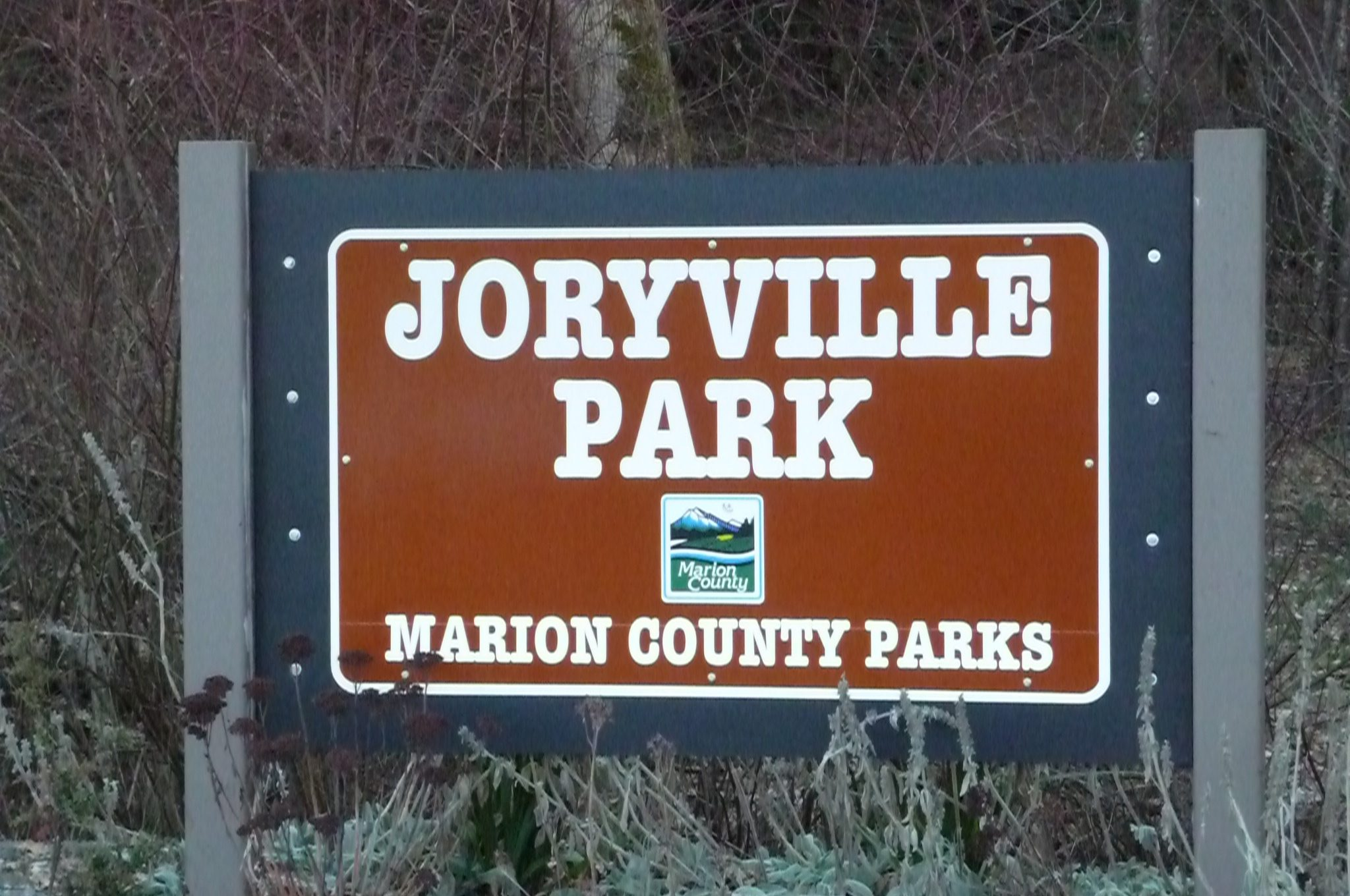 Sign at Jory Hill Park, local trails for horses