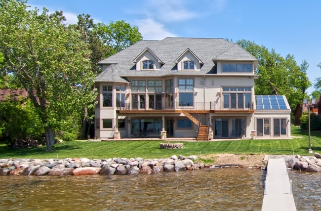 22620 Hayward Ave N, Forest Lake MN | MLS # 4153421 | Back of Home from Dock