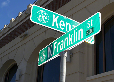 Intersection of Franklin Street and Kent
