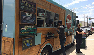 Food truck in Durham