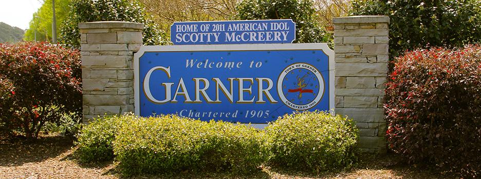 Welcome to Garner sign