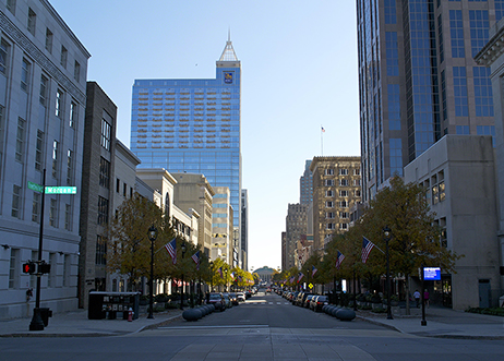 Fayetteville Street in Downtown Raleigh